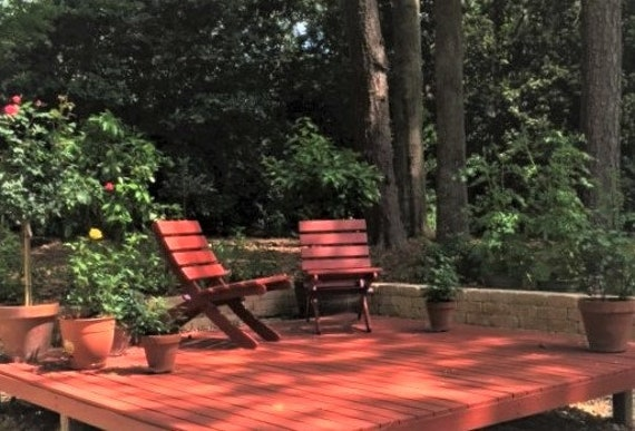 Marvelous Red Stain On Classic Cedar Chairs For Deck Garden Patio Beach Cabin 16 Colors Outdoor Furniture Handcrafted By Laughing Creek Caraccident5 Cool Chair Designs And Ideas Caraccident5Info