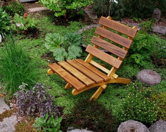 Cedar Chairs for Outdoor Comfort - Color Shown: Rustic Natural Cedar - 10 Colors Available - Handcrafted Outdoor Furniture Laughing Creek