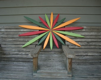 """28"""" Wooden Wall Art For Outdoor Wall, Fence, Entryway, Garden - 12 Colors Available - Handcrafted by Laughing Creek"""