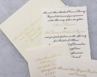 10 Custom hand lettered invitation suite