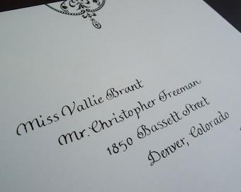 Wedding invitation addressing, calligraphy deposit