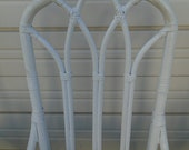 Set 6 Bamboo Chairs Cathedral Hollywood Regency Rattan Palm Beach Captain Arms Coastal Cottage Wicker Henry Link or McGuire STY SIX Dining