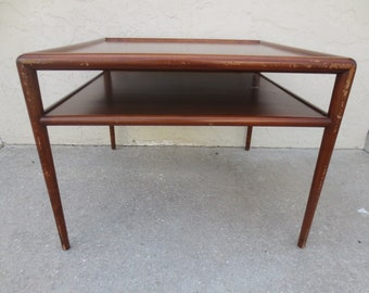 9da14cc1ed1fb Coffee Table Mid Century Modern Cocktail MCM Danish STY TRUE Grand rapids  Certif Square Rare 2 tier Hollywood Regency