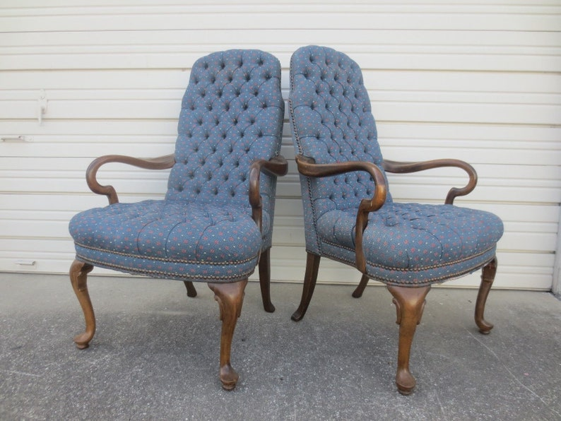 Gratis 2 Fauteuils.Pair Arm Chairs Goose Neck French Country 2 Library Fauteuil Etsy