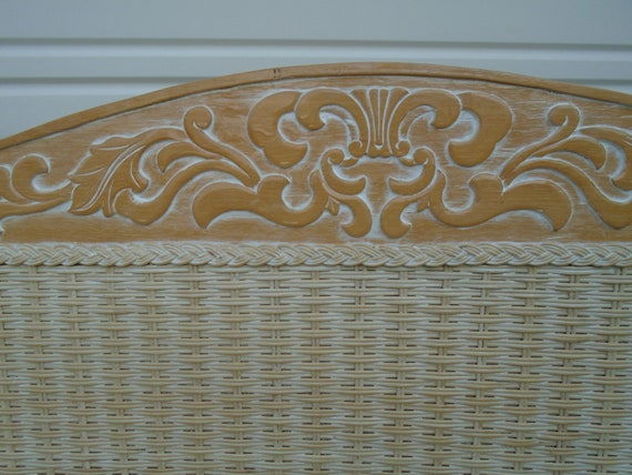 ONE Pier 1 Wicker queen size Headboard Jamaica Collection One Imports  Rattan Cottage Coastal Tropical Full Double