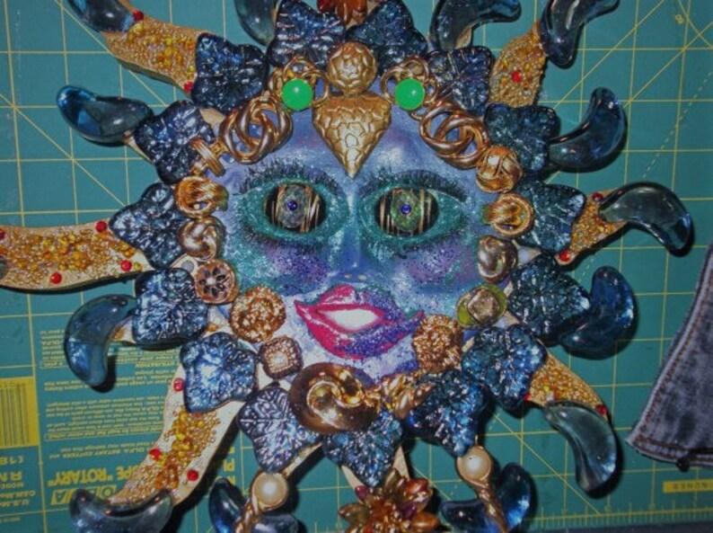 Blue Moon Goddess Mosaic Lunaria