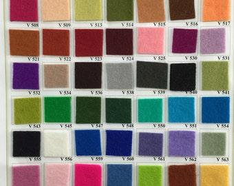 Wool Felt Colour Chart