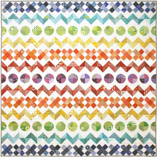 Rainbow Row By Row Quilt Pattern Etsy