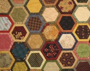 Quilt As You Go Hexagons