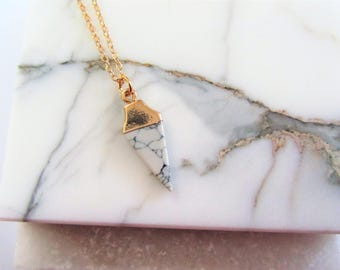 Gold Triangle Necklace, Geometric Necklace, Minimalist Necklace, Bridesmaids Jewelry, Layering Necklace, Modern Necklace, Marble Necklace