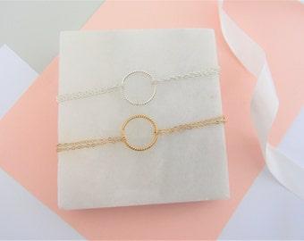 Eternity Bracelet, Gold Eternity, Silver Eternity, Simple Gold Bracelet, Silver Bracelet, Gold Bracelet, Valentined Day Gift, Gift for her