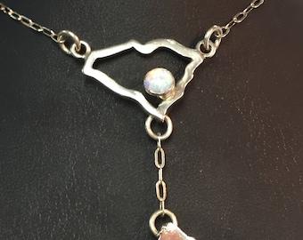 South Carolina Necklace with Hilton Head Island Charm Custom Order