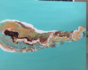 Grouper Fish Acrylic Painting on Canvas