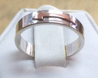 Arrow Ring in Sterling and Copper