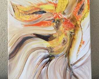 Orchid Dance Original Acrylic Painting