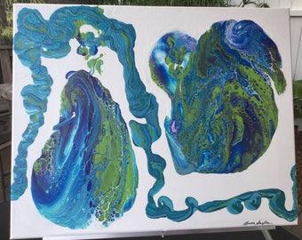 Odd Pear Original Acrylic On Canvas