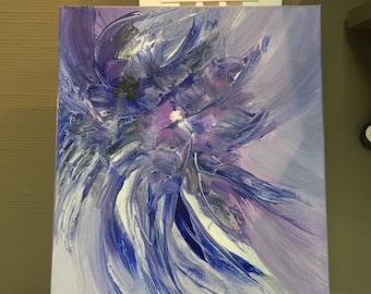 Purple Explosion Original Acrylic Painting