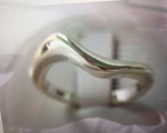 Sterling Silver Abstract Wave Ring Custom Order