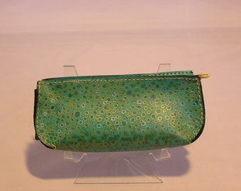 Leather Eye glass case hand painted