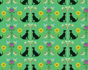 Cat Wrapping Paper - Recycled Wrapping Paper - Bird Wrapping Paper - Flower Wrapping Paper - Floral Gift Wrap - William Morris Inspired