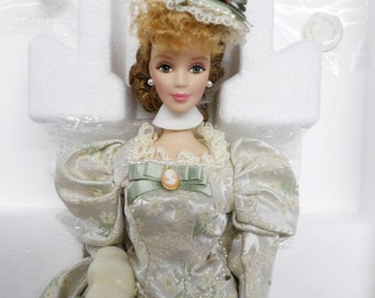 Mint Memories, Rare Barbie Doll, Porcelain Doll, Victorian Tea, Barbie Collector