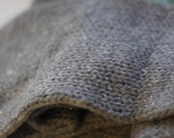 100% pure cashmere with sparkle unisex cowl (heather grey)