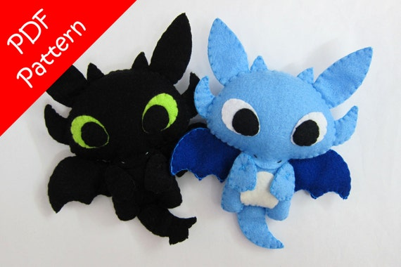 Dragon Or Toothless Alike Plush Pdf Pattern Instant Digital