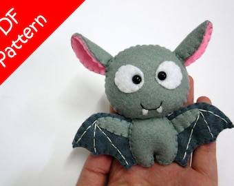 Bat Plush PDF Pattern -Instant Digital Download