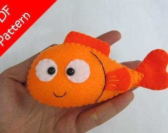 Fish Plush PDF Pattern -Instant Digital Download