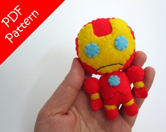 Iron Man Plush PDF Pattern -Instant Digital Download