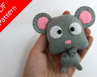Mouse Plush PDF Pattern -Instant Digital Download