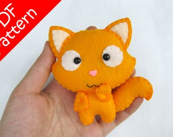 Cat Plush PDF Pattern -Instant Digital Download