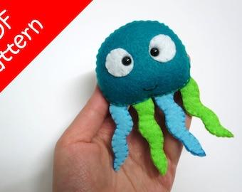 Jellyfish Plush PDF Pattern -Instant Digital Download