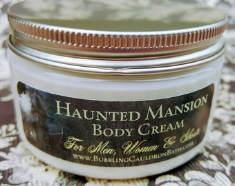 Haunted Mansion Body Cream - Moisturizing Cream - Geraniums - Patchouli - Unisex Cream - Goth Cream