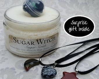 Sugar Witch Body Scrub - Surprise Gift Inside - Exfoliating Sugar Scrub - Vanilla Sugar Scrub - Surprise Bath Gift