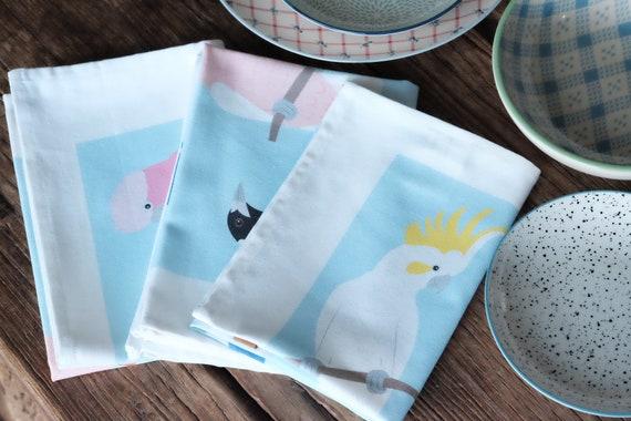 Australian Native Birds Tea Towel