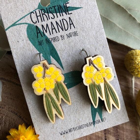 Golden Wattle Statement Earrings
