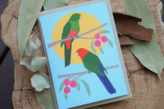 King Parrots Eco Greeting Card