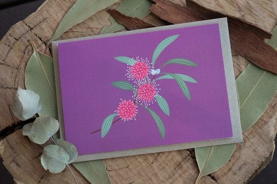 Hakea Eco Greeting Card