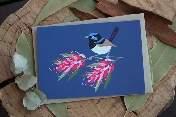 Fairy Wren Eco Greeting Card