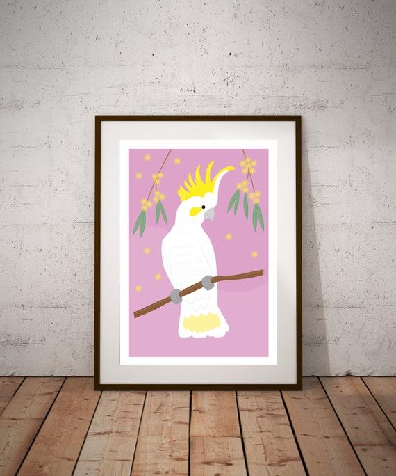 PRE-ORDER** Sulphur Crested Cockatoo Fine Art Print