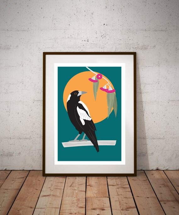 PRE-ORDER** Australian Magpie Fine Art Print