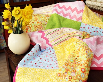 Custom personalised quilt blanket - with embroidered name or message (perfect heirloom house warming gift)