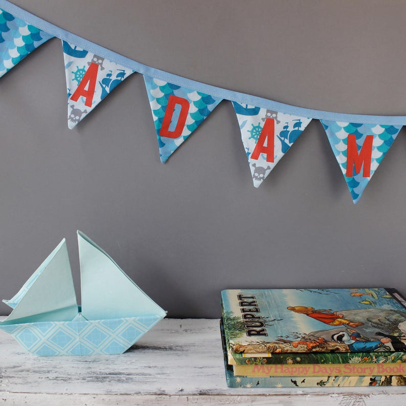 Pirate Bunting  Personalised Bunting for Pirate Decor / image 0