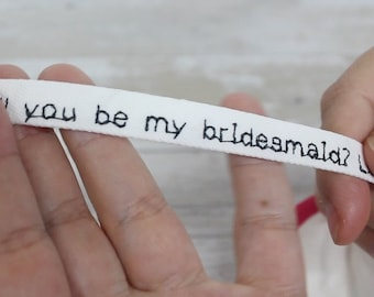 Bridesmaid Proposal / Will you be my Maid of Honor? Personalised custom fortune cookie message token