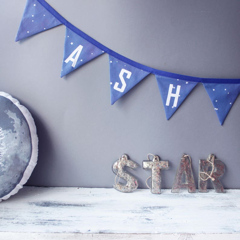 Star Bunting  Personalised Bunting for Galaxy Party / Galaxy image 0