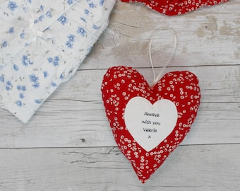 Memory heart - keepsake made from a loved ones clothing -  remembrance gift