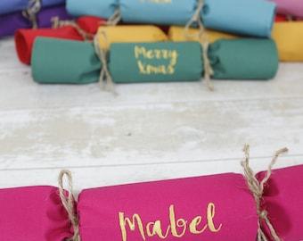 Sustainable Fabric Christmas Cracker / Personalised Name Napkin (single)