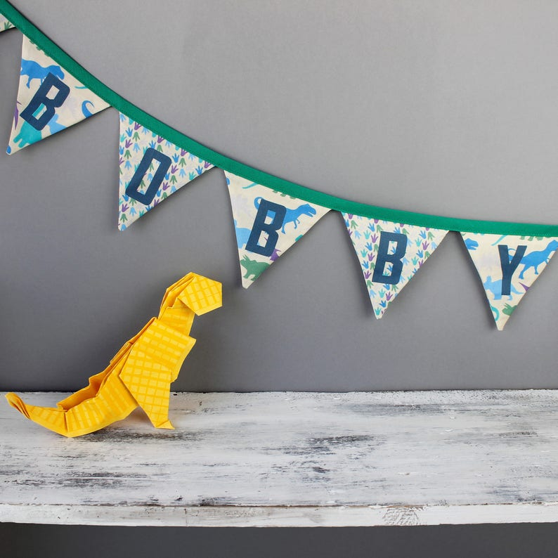 Dinosaur Bunting  Personalised Bunting for Dinosaur Decor / image 0
