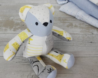 Baby Memory bear - keepsake made from your babies old clothing